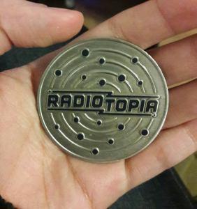 My Radiotopia challenge coin.
