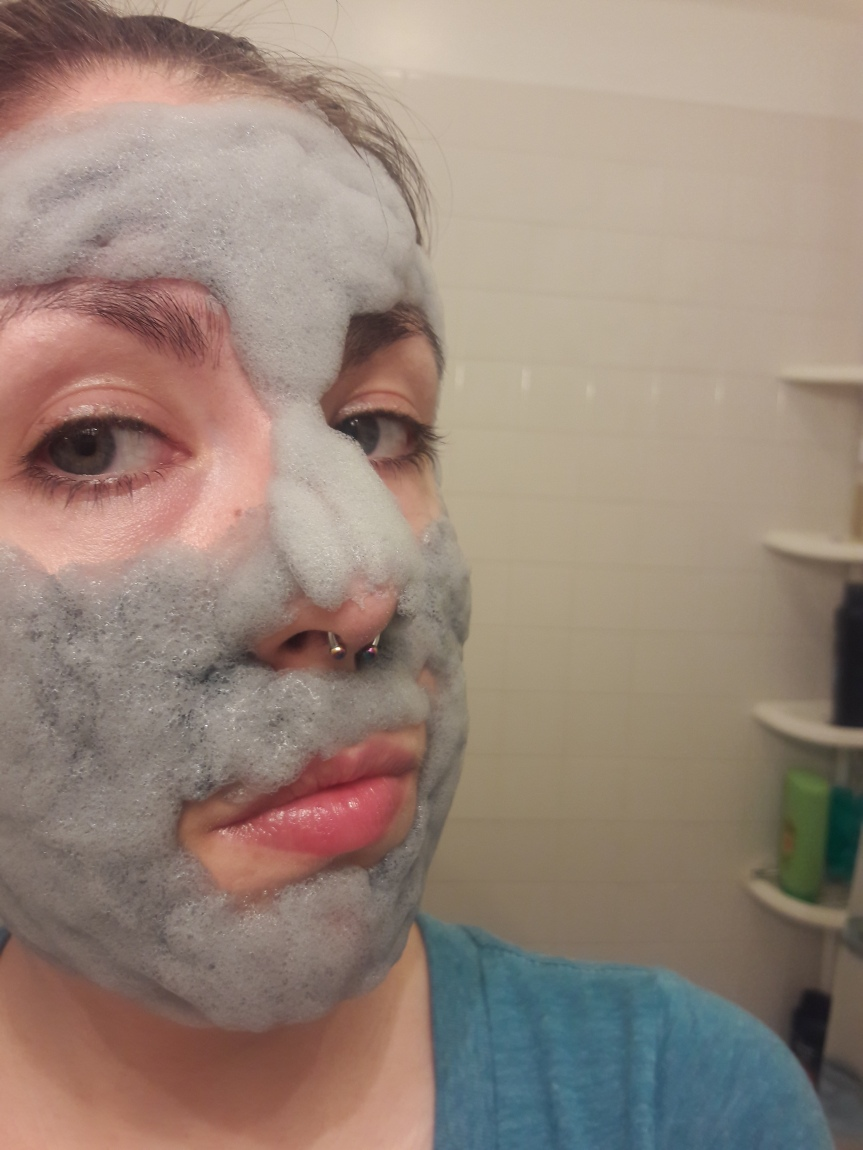 Elizavecca Milky Piggy Carbonated Clay Mask after it starts foaming.