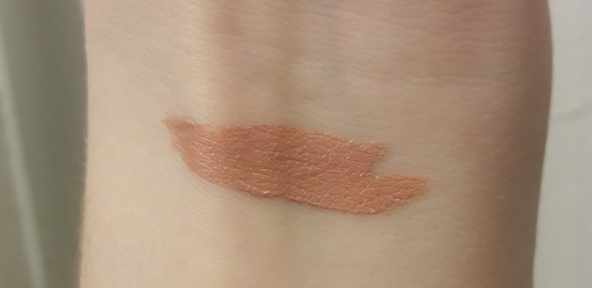 Arm swatch of NYX PROFESSIONAL MAKEUP Lip Lingerie in Satin Ribbon. It still looks like a concealer and not lipstick.
