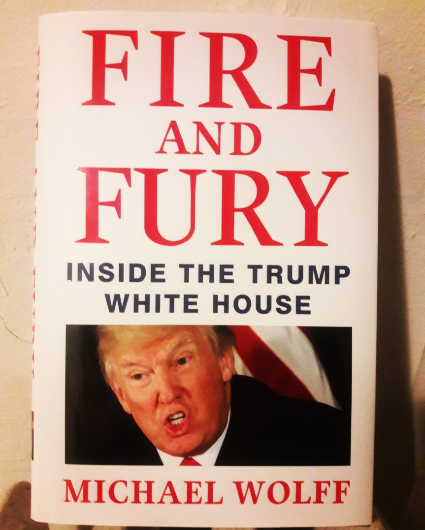 Cover of Fire and Fury by Michael Wolff.