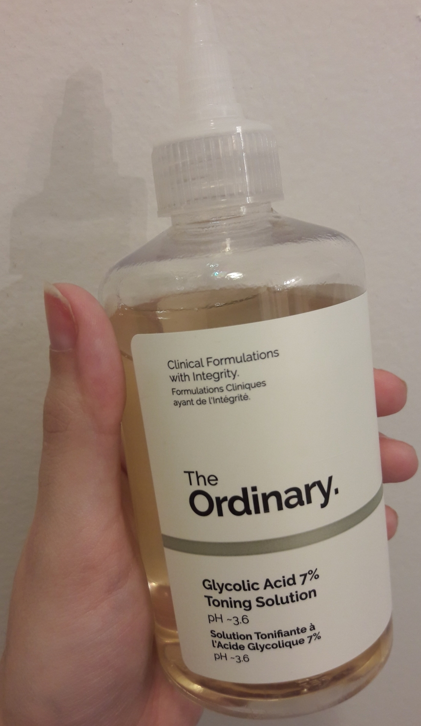 Bottle of The Ordinary's Glycolic Acid 7% Toning Solution.