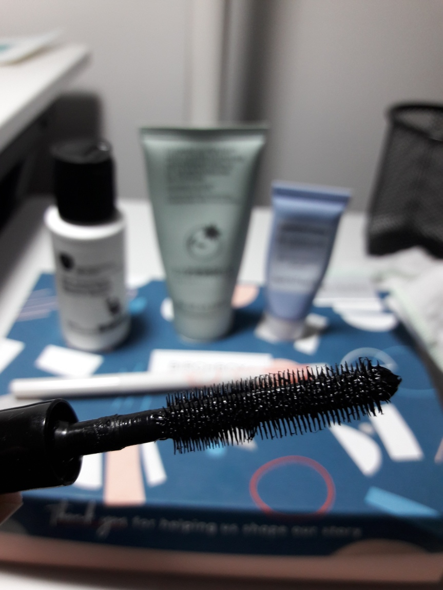 The brush for the MAC mascara. It has A TON of skinny bristles. Maybe the most dense I've used.
